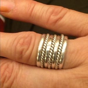 925 sterling silver band size 8